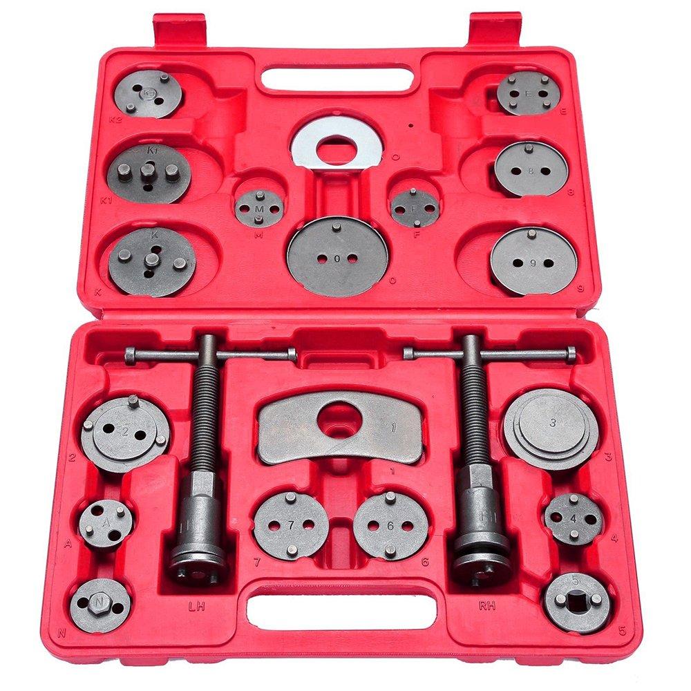 21 pcs Universal Disc Brake Caliper Wind Back Tool Kit for Disk Brake Pad Replacement