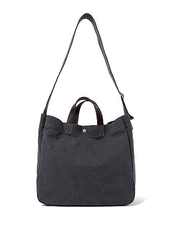 super service united kingdom fashion styles Heavy Duty Canvas Travel Tote Handbag Shoulder Bag Crossbody Bags For Men &  Women Leather Handle & Strap (Charcoal Upgraded)