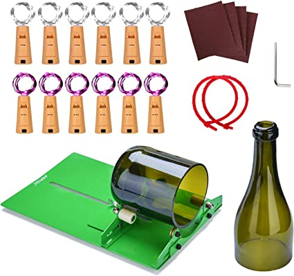 Base taglio sezione per fai da te Kit taglia bottiglie di vetro professionale