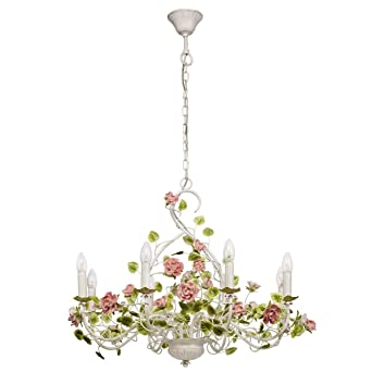 Mw Light 421013708 Lustre Suspension Romantique à 8 Lampes Bougies