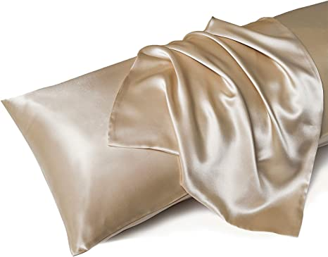 Silk Satin Body Pillow Cover Soft /& Skincare with Zipper Pillowcases for Ladies