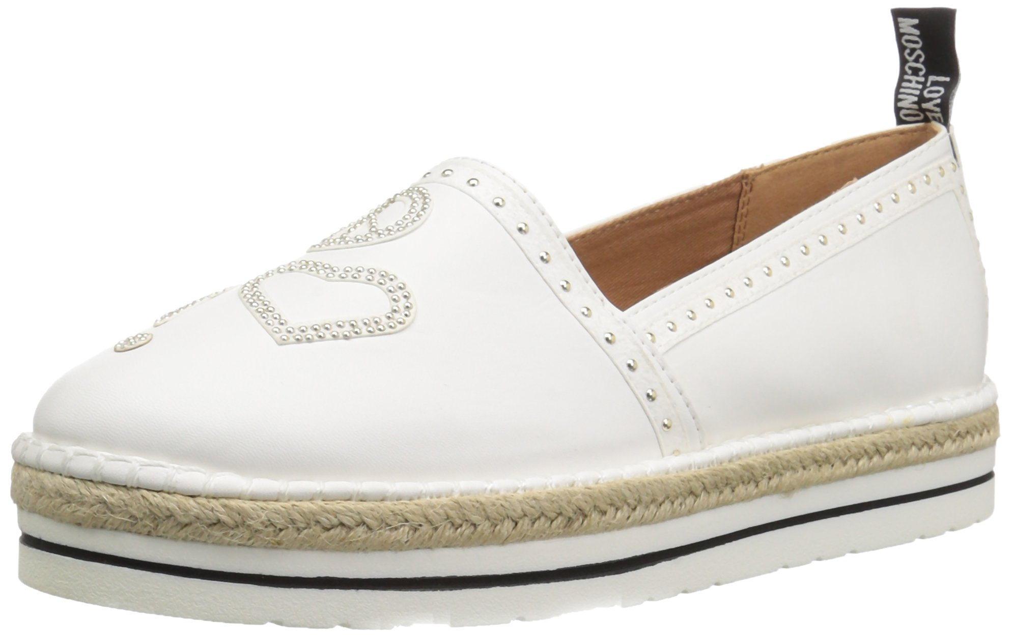 Love Moschino Women's JA10093G15IC0100 Sneaker, White, 39 M EU (8 US)