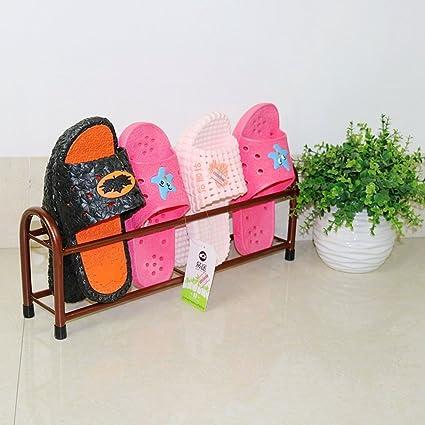 MCUWEHGFET Deslizador del Hierro Estante de Zapato Simple del Cuarto de baño Dormitorio,baño,