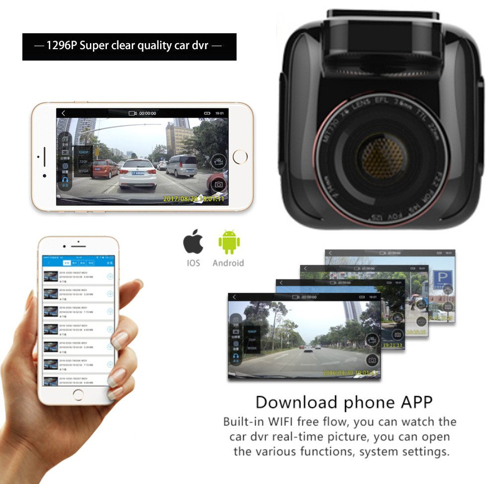 Car DVR Vehicle,Driving Video Recorder,Full HD 1080P Night Vision Car DVR Camera Dashboard Recorder Dashboard cam G Sensor,Loop Recording,Recorder Camcorder ...