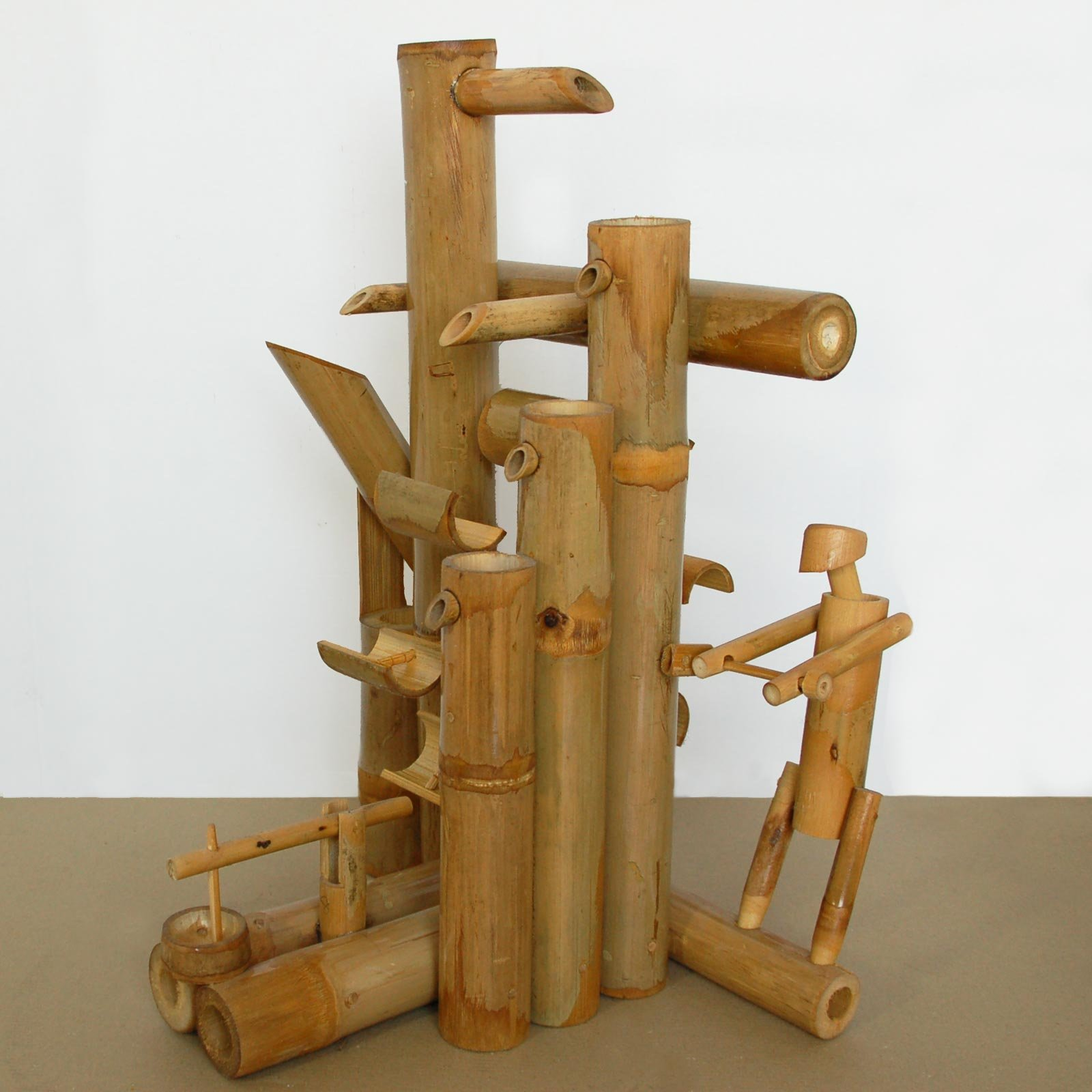 Bamboo fountain, water game, watefall, handmade, imported from Thailand (12032)
