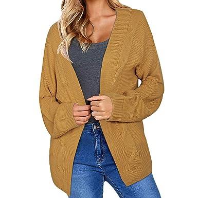 Yvelands El suéter Hecho Punto, Capa Caliente de la Manga Larga de la Rebeca del Invierno Womens Outwear Outwear Calientes Superiores!: