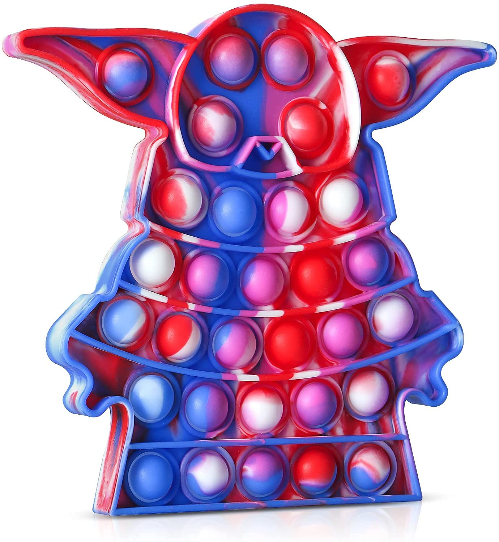 Pop It Fidget Toys,Push Pop Bubble Fidget Sensory Toy,Autism Special Needs Silicone Stress Relief Toy,Great Fidget Toy Sensory Toys Novelty Gifts for Girls Boys Kids Adults (Cartoon Baby)