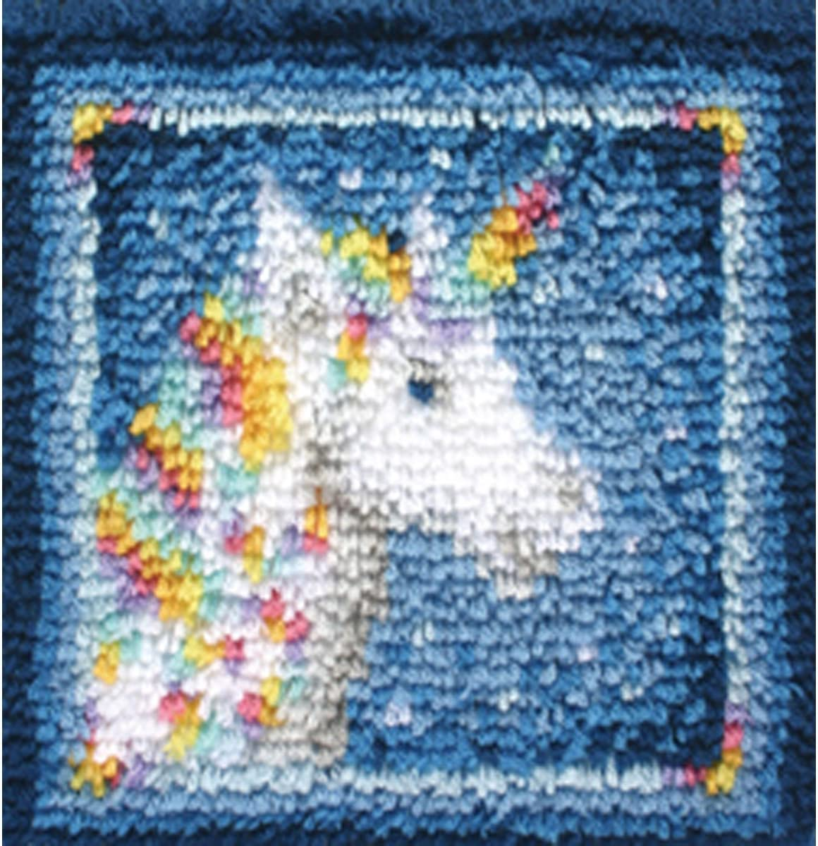 Spinrite Wonderart Latch Hook Kit 12X12-Unicorn