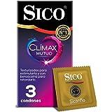 Sico Clímax Mutuo Condones de hule látex natural con benzocaína cartera con 3 piezas