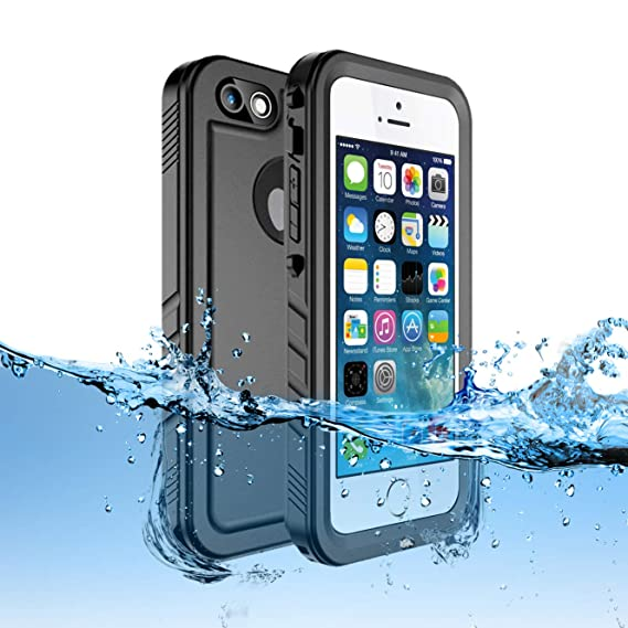 info for 30e82 15a34 Sincetop Compatible iPhone SE Waterproof Case/iPhone 5S Case Waterproof -  Underwater Full Sealed IP68 Shockproof Full-Body Rugged Case with Built-in  ...