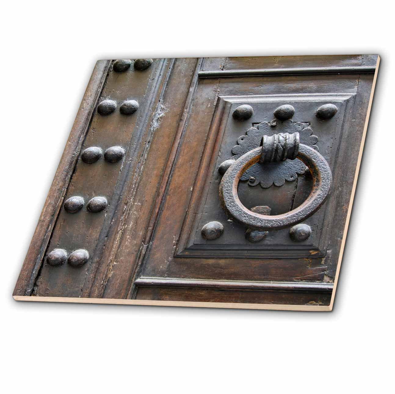 3dRose Danita Delimont - Architecture - Italy, Florence, Door Knocker - 4 Inch Ceramic Tile (ct_277598_1)