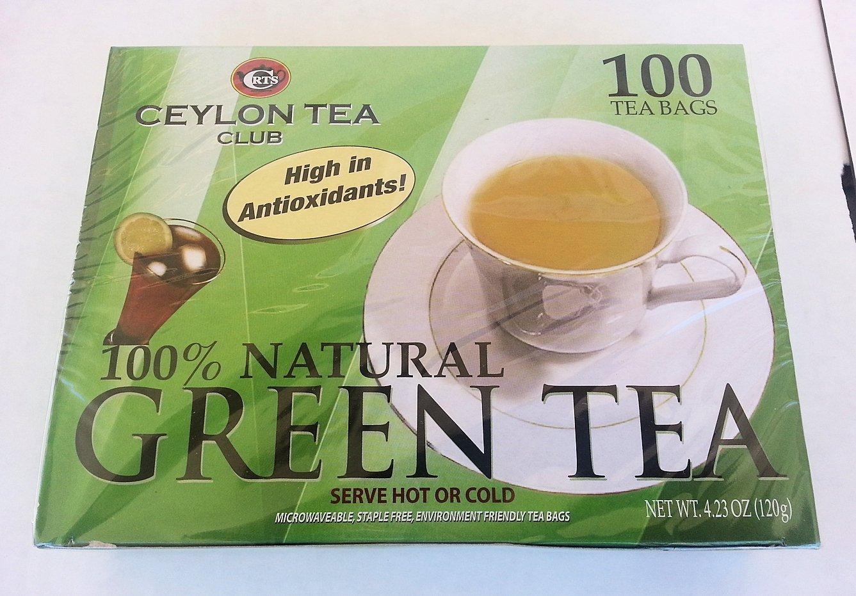 Green Tea - 100% Natural, 100 bags,(Ceylon Tea Club)