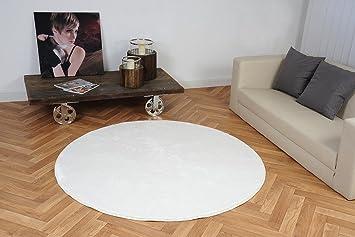 Luxus Hochflor Teppich Prestige rund - Farbauswahl: Weiß, Beige ...