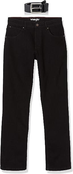 WRANGLER Texas Stretch Jeans da Uomo Originale Fit-nero