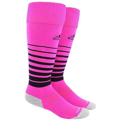 2f63d6af8 adidas Unisex Team Speed OTC Soccer Sock, Shock Pink/Black/Light Onix,  Medium: Amazon.in: Sports, Fitness & Outdoors