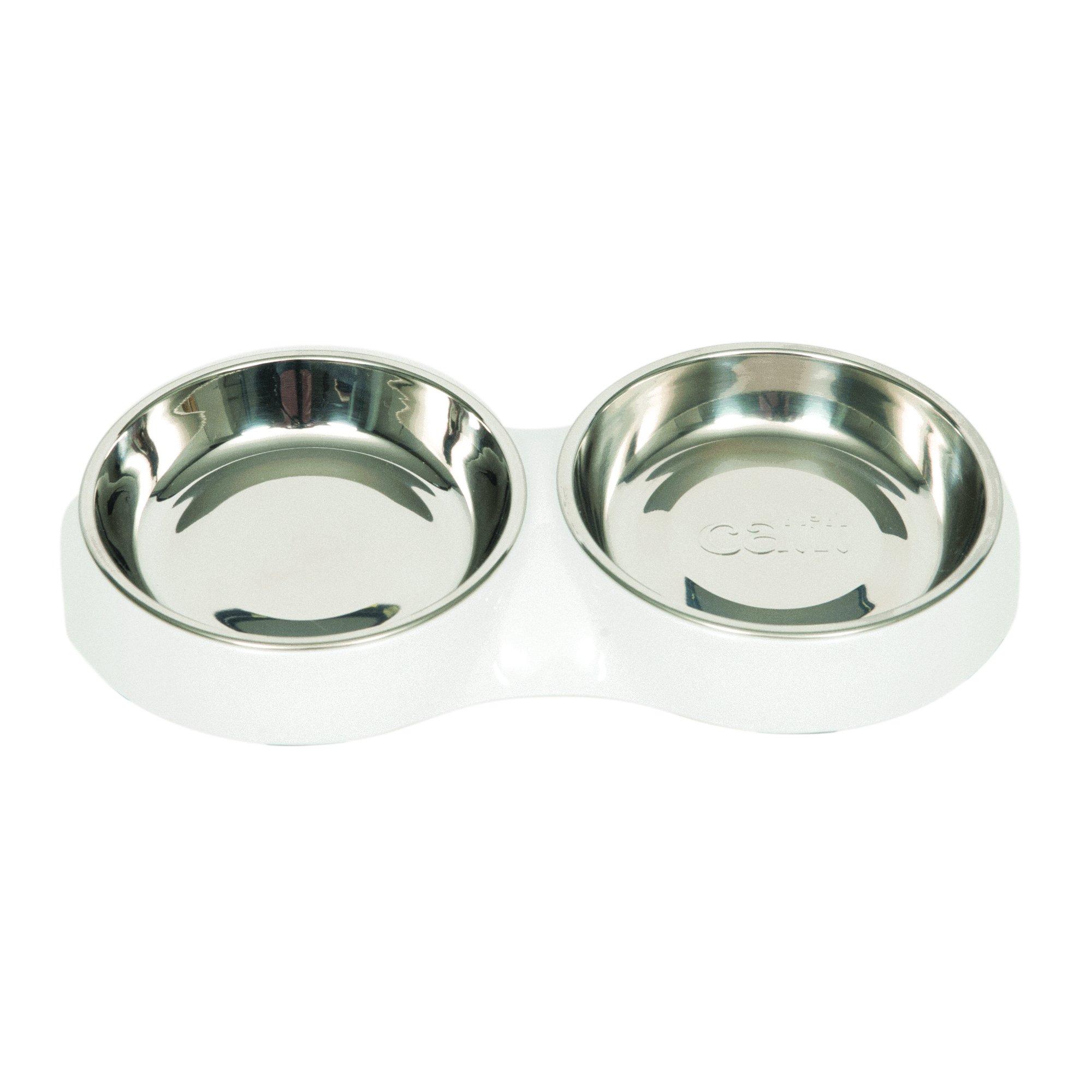 Catit 43872 6.83 fl. oz. Double Dish Food Dish, White, NA