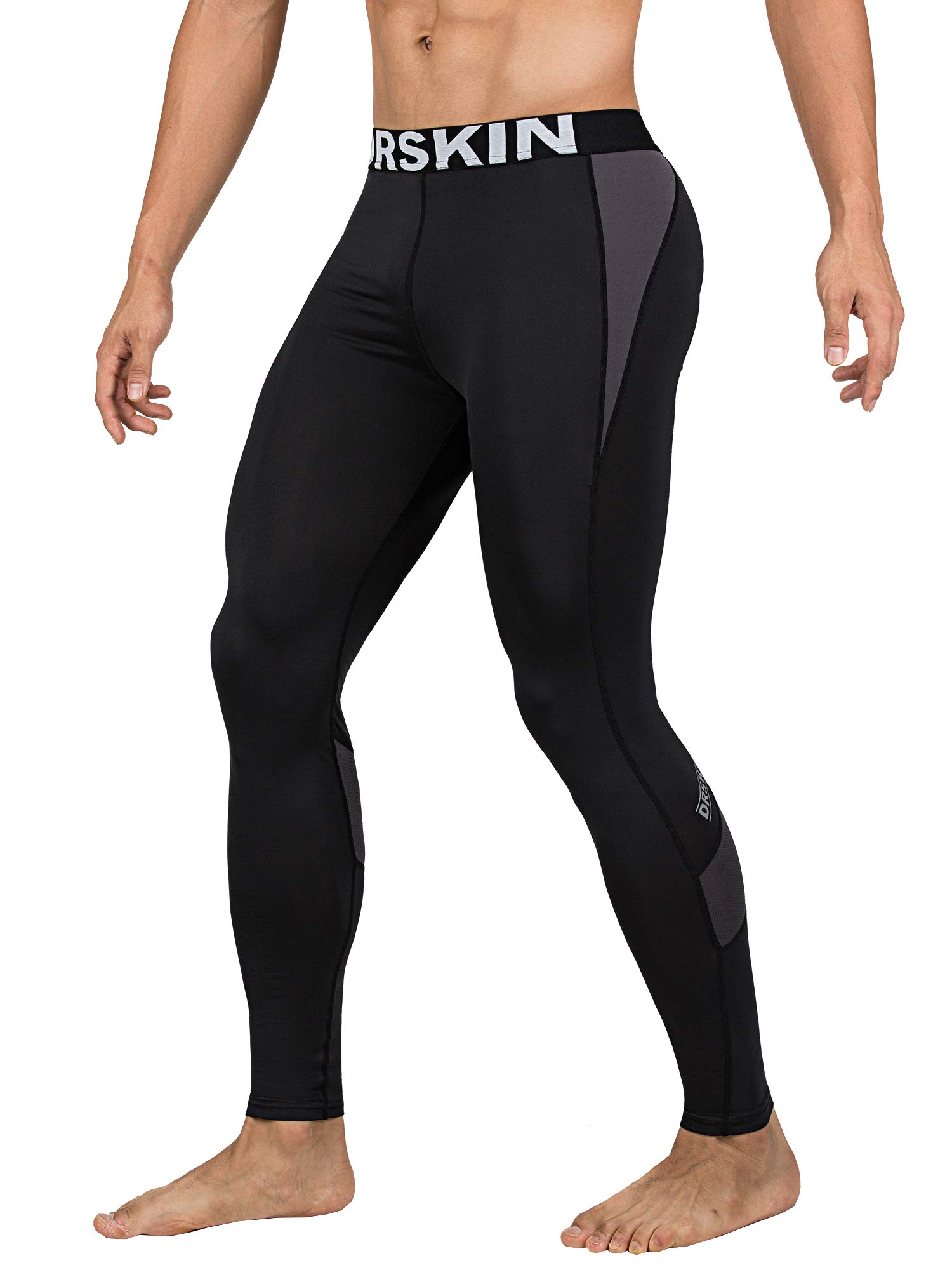 DRSKIN 1~3 Pack Men's Compression Dry Cool Sports Tights Pants Baselayer Running Leggings Yoga (Packs of 1, 2, or 3 Deals) (Came B-G01, S)