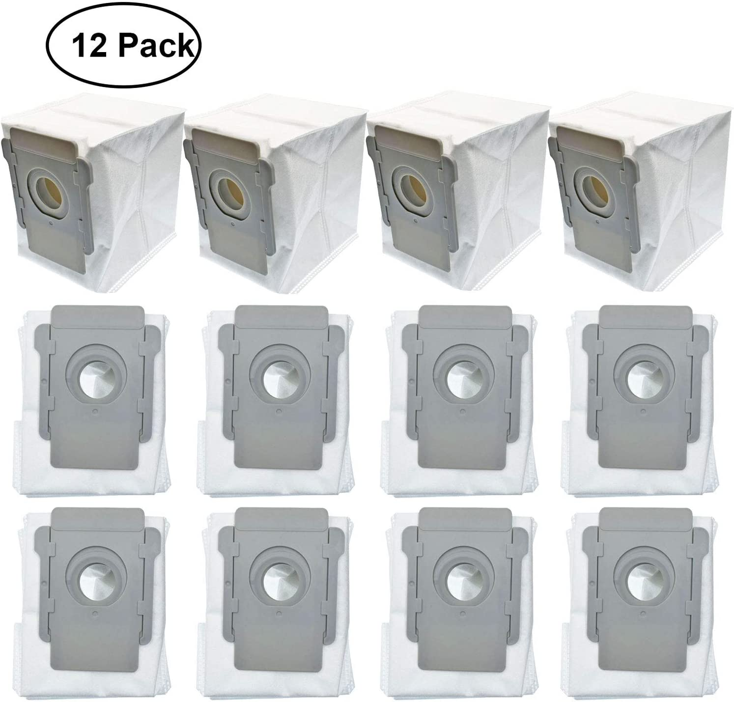 Amazon Com Lemige 12 Packs Vacuum Bags For Irobot Roomba I7 I7 Plus S9 9550 Clean Base Automatic Dirt Disposal Bags