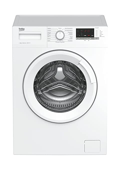 Beko WML 61433 NP Waschmaschine Frontlader / 6kg / A+++ / 1400 UpM / Mengenautomatik / weiß / Startzeitvorwahl / 15 Programme