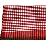 Red Cotton Gingham Check Picnic Tablecloth