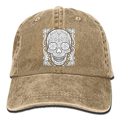Gorras de béisbol con Forma de Calavera de azúcar Sombreros de ...