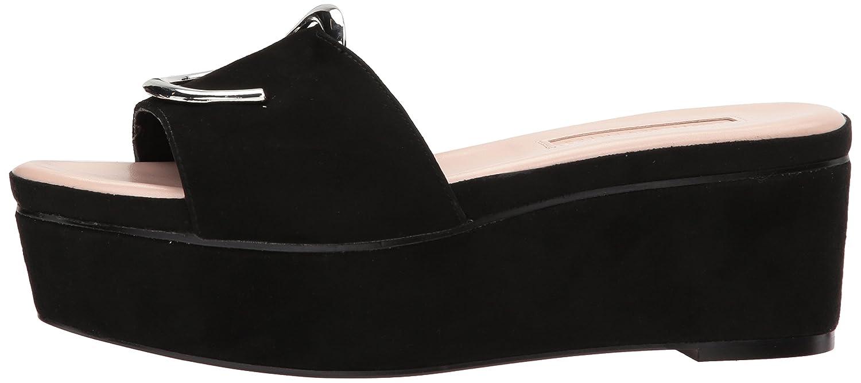Avec Les Filles Women's Addison Wedge Sandal B071XB8GNF 10 B(M) US Black
