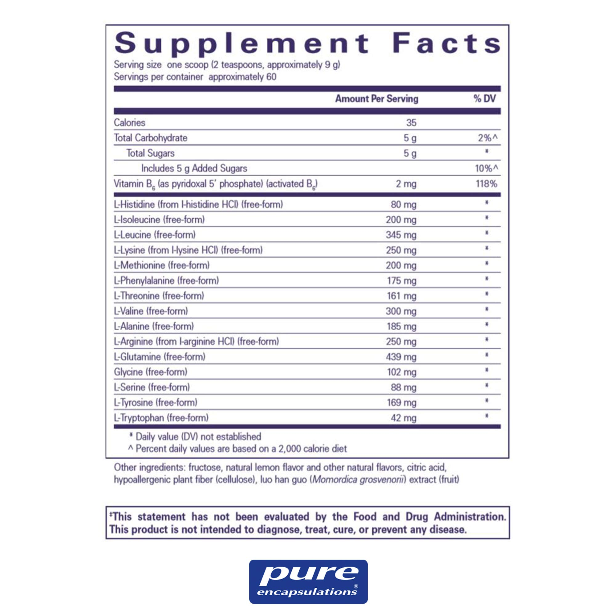 Pure Encapsulations - Amino Replete - Hypoallergenic Free-form Amino Acid Powder Supplement - 540 Grams by Pure Encapsulations (Image #2)