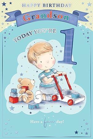 Grandsons 1st Birthday Card