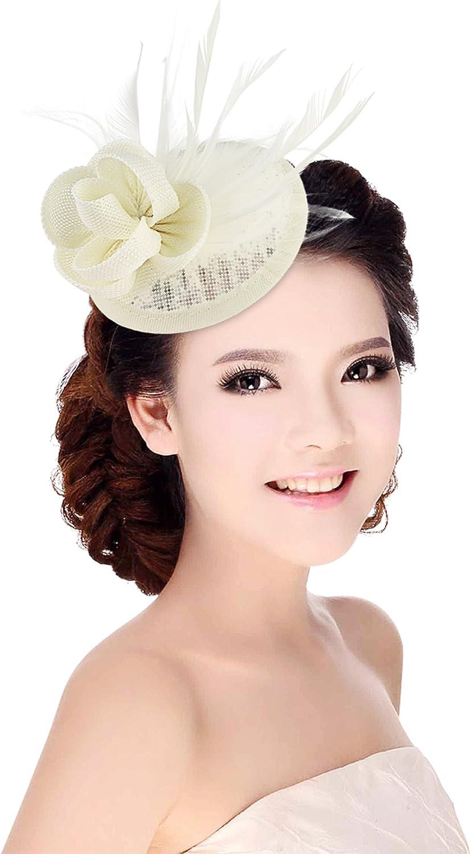 Y-BOA Chapeau Bibi Barrette Coiff/é Mariage Femme Fille Costume B/éret Fascinator