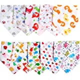 Labebe Baby Bandana Bibs Drool/Burpy Bibs Unisex 10-Pack Multicolor, 100% Cotton, Newborn Baby Shower Gift for Teething and Drooling, Soft & Absorbent, Machine Washable and Stain Proof - Unisex Pack C