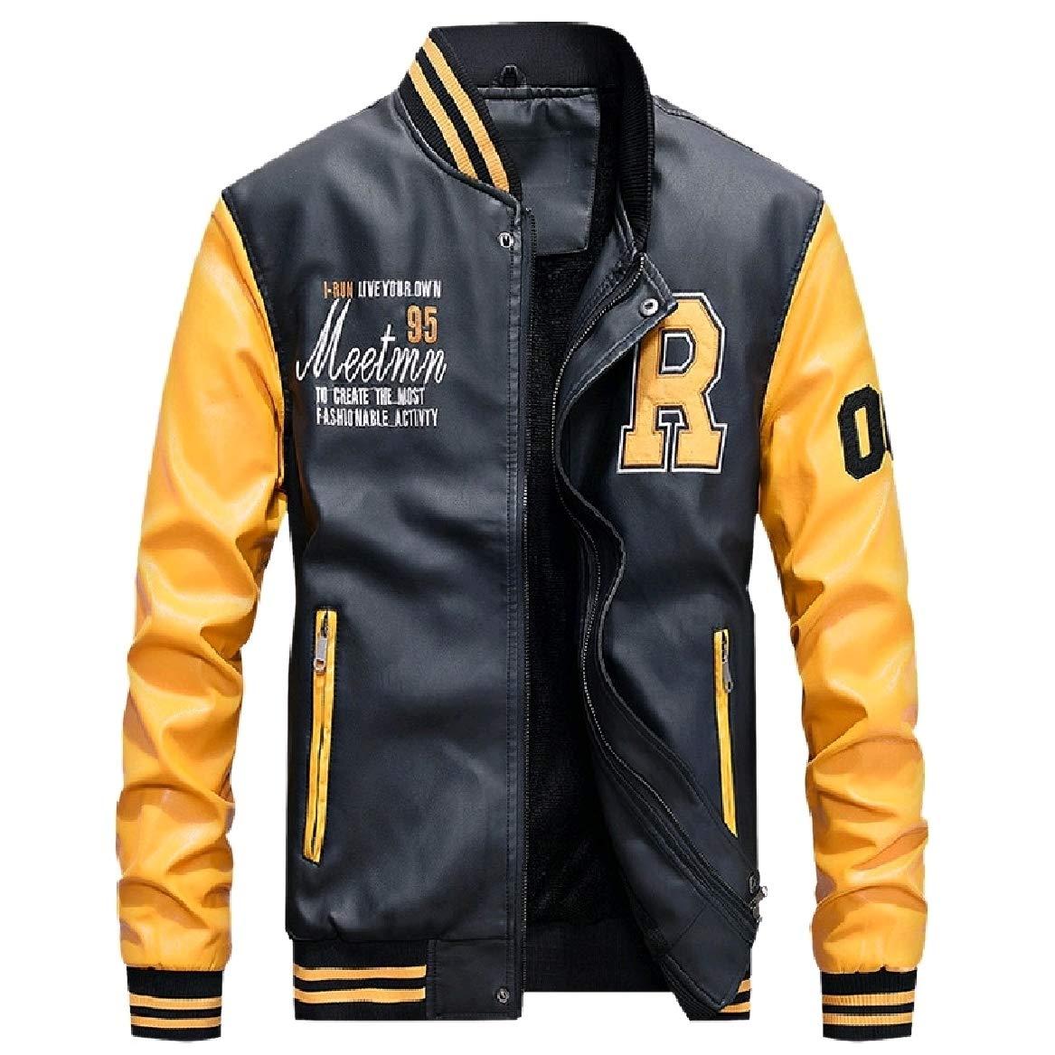 SayahMen Baseball Juniors Plus Size Couples Moto Biker Jacket