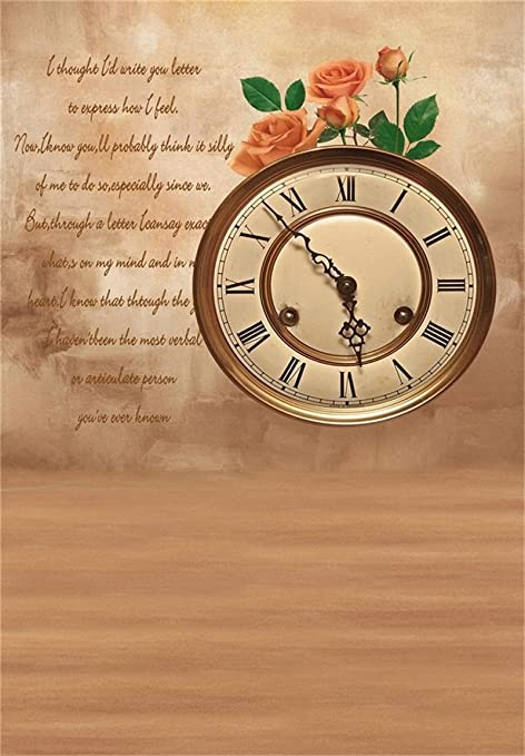 aofoto 6x8ft mothers day photography background romantic love letter rose clock backdrop elegant photo studio props