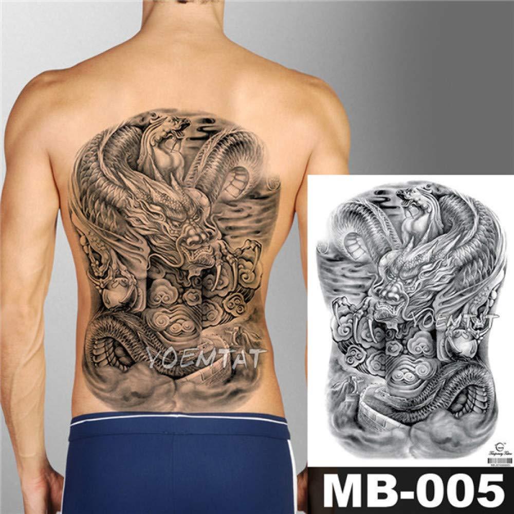 Handaxian 3pcsAngel Cross Wings Big Tattoo Sticker Impermeable ...