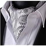 ヒスデン(HISDERN) 結婚式 アスコットタイ メンズ シルク アスコットタイ 洗濯可能 20色 フォーマル スカーフ ビジネス ネッカチーフ 襟巾