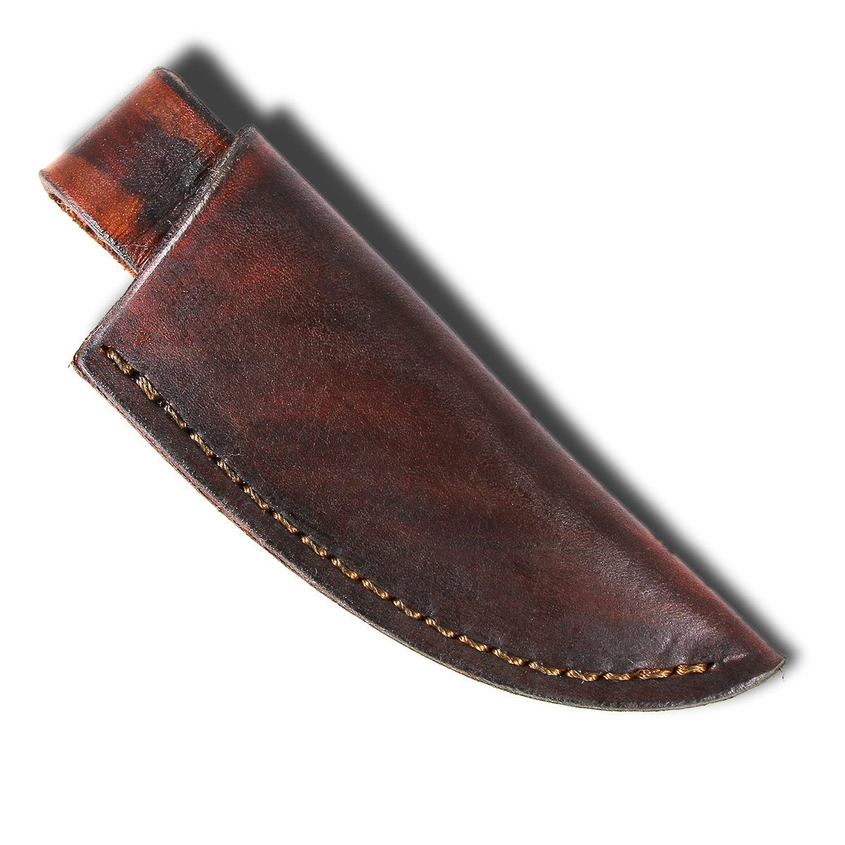 Finished Sheath Style #10 - Brown Leather - for knives with blades up to 1 1/4'' wide by 4'' long by MKS Leatherworks