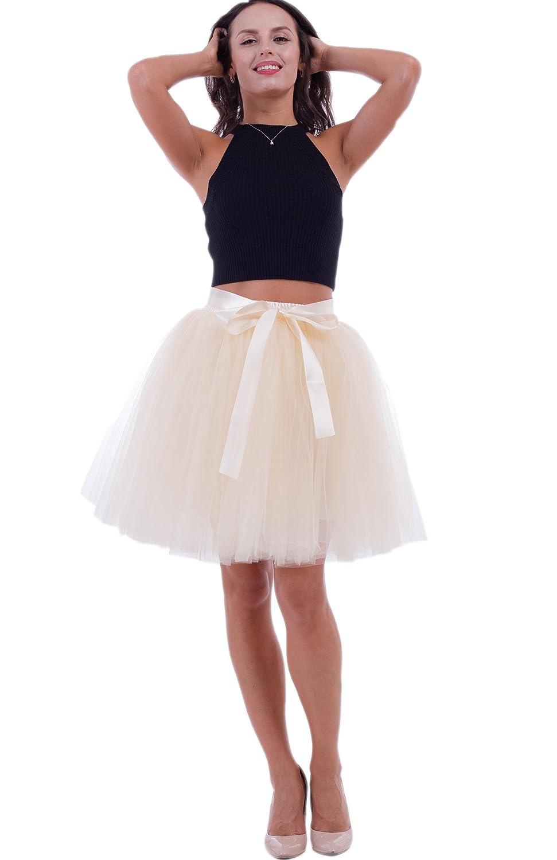 88abe2069aded9 SCFL Jupe Tutu Femme Jupe Enjambeur Enjoliveur Ballet Jupe demi-glisse  Longueur 50cm.