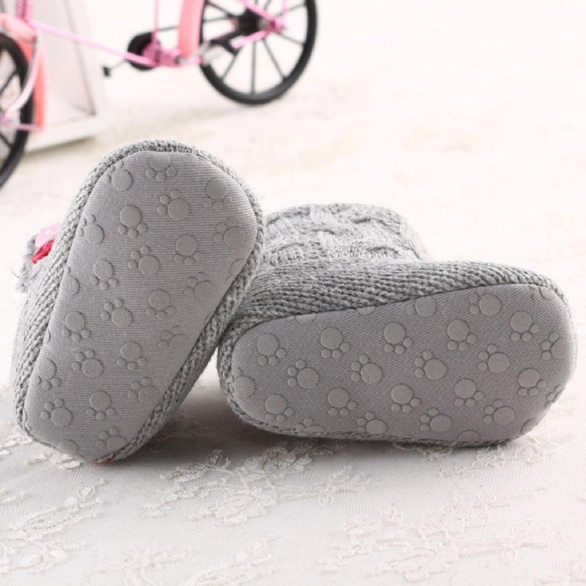 CMrtew Cute Baby Girls Keep Warm Soft Sole Snow Toddler Boots