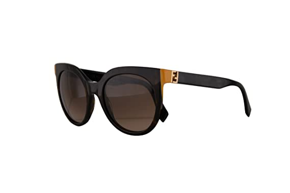 e37cbbf4a7dd Fendi FF0129/S The Fendista Sunglasses Dark Havana Black w/Brown Gradient  Lens 51mm TRDJ6 FF0129S FF 0129S FF 0129/S: Amazon.co.uk: Clothing