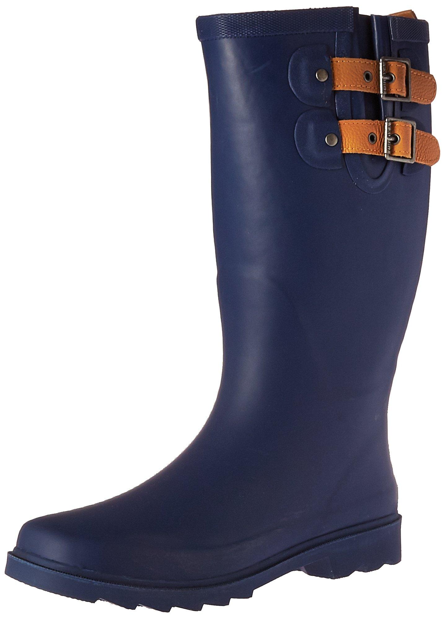 Chooka Women's Tall Rain Boot, Deep Navy, 9 M US