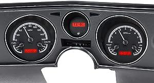 Dakota Digital 69 Chevy Chevelle El Camino Analog Dash Gauge System Black Alloy Red VHX-69C-CVL-K-R
