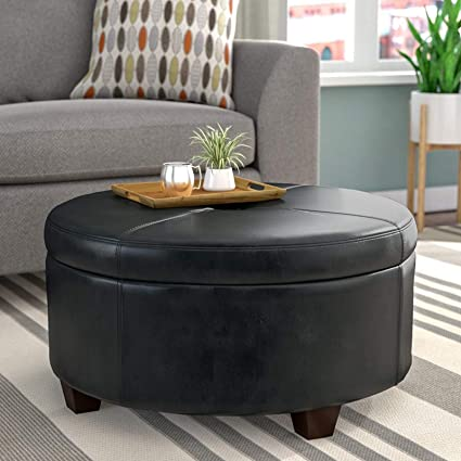 Awesome Amazon Com Simple Interior Round Cocktail Ottoman Modern Short Links Chair Design For Home Short Linksinfo