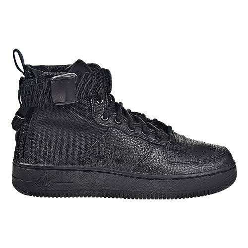 buy online adacd ee66f Nike SF AF1 Air Force Mid GS Hi Top Trainers AJ0424 Sneakers Shoes (UK 6 us  7Y EU 40, Black Black Black 003)  Amazon.in  Shoes   Handbags