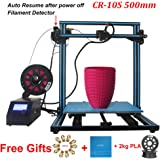 Creality CR-10S S5 3D Printer DIY Kit Large Printing Size 500x500x500mm With 2kg CCTREE PLA Filament + Build surface + MK8 nozzle