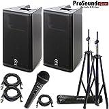 """Yamaha DXR10 Powered Speaker Cabinet 10"""" - Free Accenta Speaker Stands w/ bag and Novik FNK-5 (ProSoundGear) Authorized dealer"""