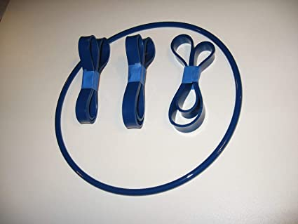 3 BLUE MAX URETHANE BAND SAW TIRES AND DRIVE BELT FOR ENCO