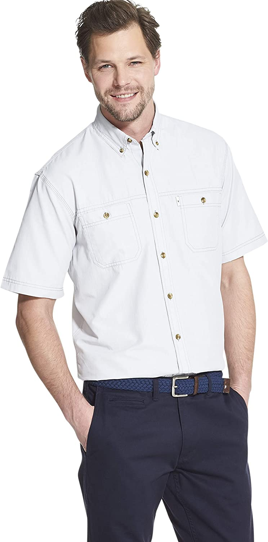G.H. Bass & Co. Explorer Camisa de Pesca de Manga Corta con Botones para Hombre - Blanco - Small: Amazon.es: Ropa y accesorios