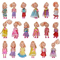 Toys Pack of 3 4'' Mini Doll with Colorful Clothes Costume(Pack of 3 Doll )