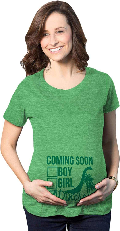 Maternity Coming Soon: Dinosaur Pregnancy Tshirt Funny Jurassic Tee for Belly Bump