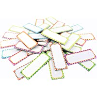 """Magnetic Dry Erase Labels Name Plates White Board 40 Labels 8 Colors,2.2"""" x1.2"""""""