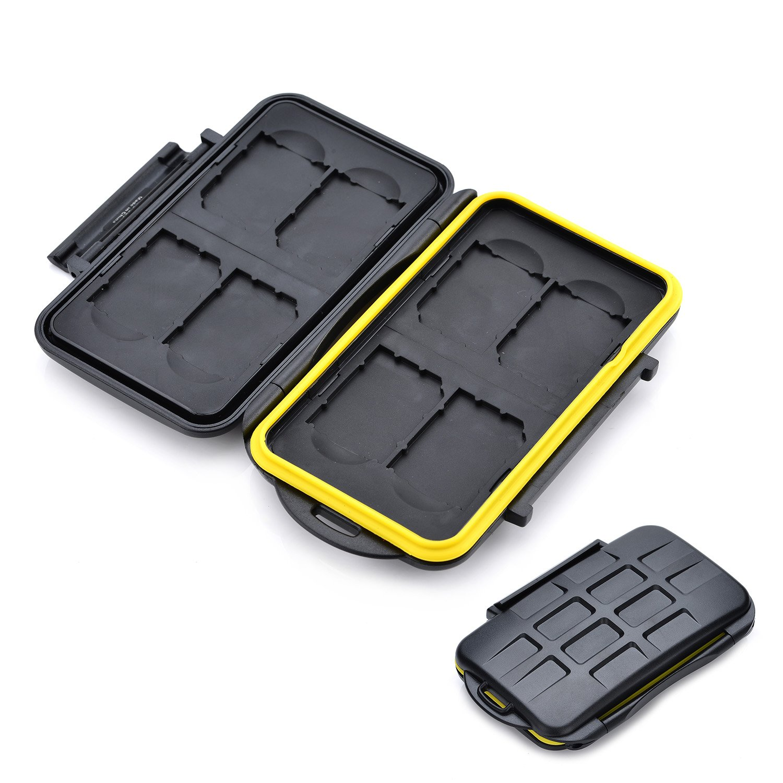 8 x SD Holder KING OF FLASH Water Resistant Shock Proof Memory Card Storage Case for SD//SDHC//SDXC//microSD//microSDHC//microSDXC